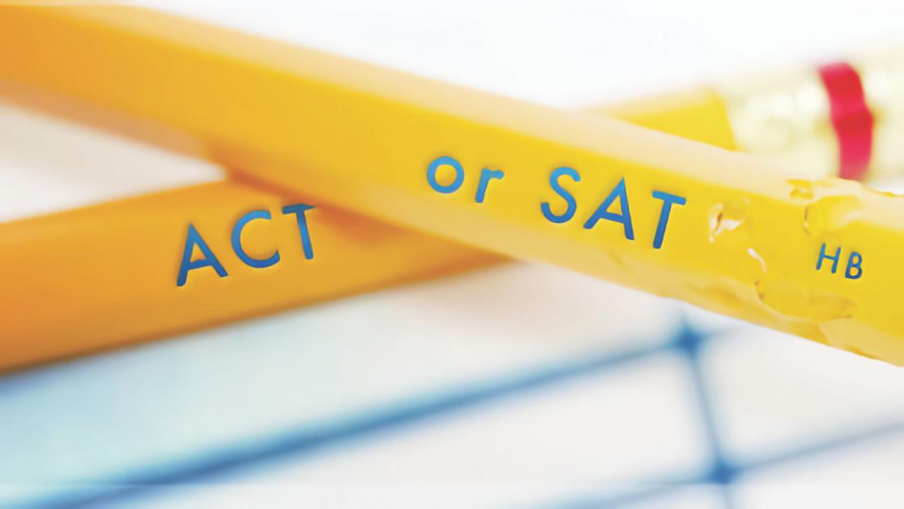 Pencils labeled ACT or SAT